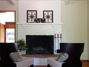 Fireplace - Staged to sell