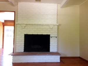 Fireplace - before Staging to Sell Home